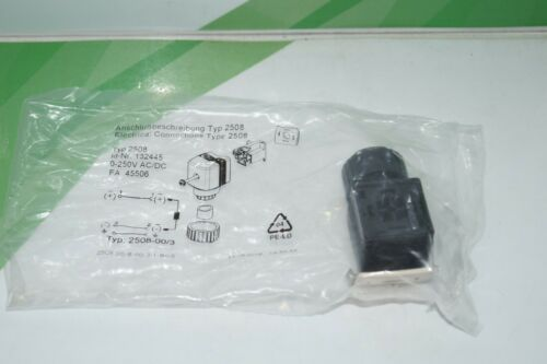 ID-no Dispositivos Bürkert enchufe 132445//tipo 2508-nuevo Sealed