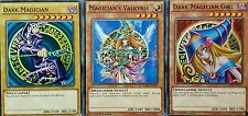 YuGiOh LDK2 DARK MAGICIAN DARK MAGICIAN GIRL MAGICIAN'S VALKYRIA 3 CARD SET 1st