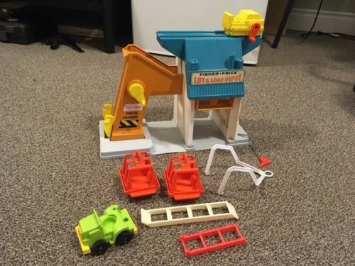 Vintage Fisher Price Lift & Load Depot