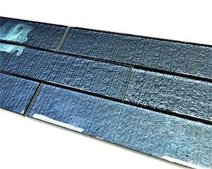 Details about 2x8 Ocean Blue Textured Glass Subway Wall Tile Kitchen  Backsplash Shower Bath