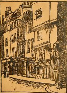 Limited-edition-wood-block-engraving-pencil-signed-Frank-Milray-Mayes-1920-039-s