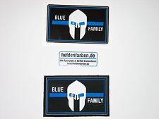 Klettpatch & Aufkleber ca. 8 x 5 cm blue family thin blue line Polizei police
