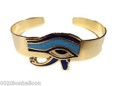 HORUS EYE BELLY DANCE BRACELET GYPSY EGYPTIAN  BRASS  HAND MADE JEWELRY  108