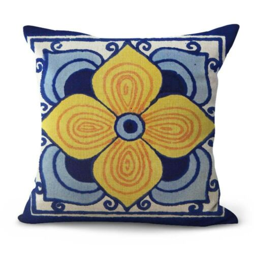 set of 12 decorative pillow covers for sofa Mexican talavera Spanish US SELLER