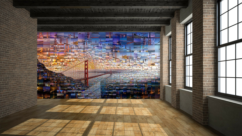 3D Bridge Photos 88 Wall Paper Murals Wall Print Wall Kyra Wallpaper Mural AU Kyra Wall c3e00b