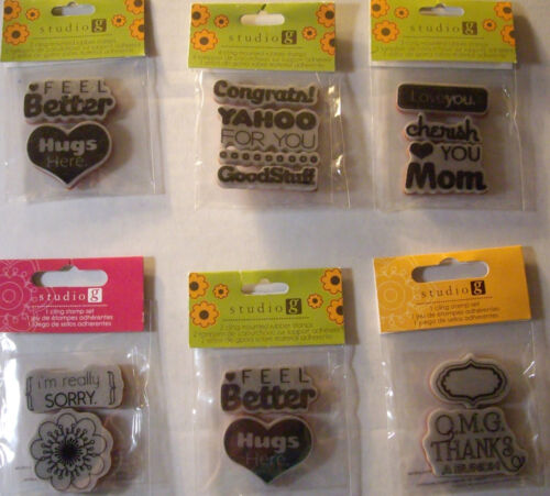 Your Choice Design*  STUDIO G NEW GREETING CARD WORDS /& DESIGNS STAMP SETS