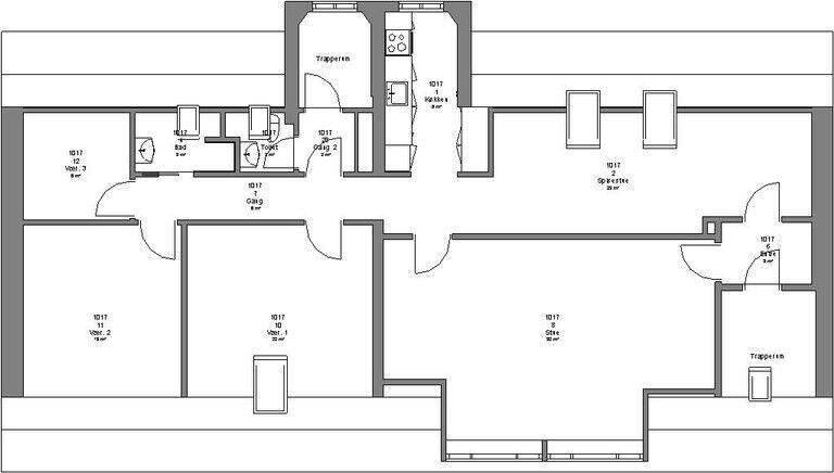 7400 5 lejlighed, 150, Søndergade