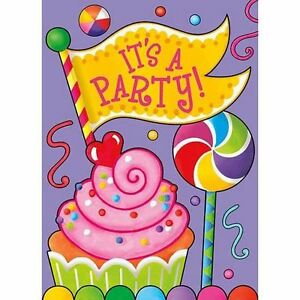 Candy party invitations birthday party supplies cupcake lollipop image is loading 034 candy party 034 invitations birthday party supplies filmwisefo