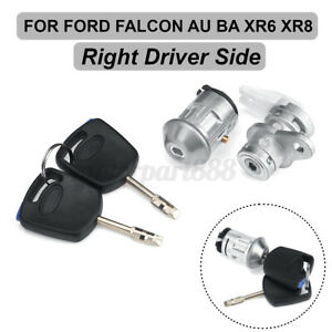 Right-Driver-Ignition-Barrel-Door-Lock-amp-Keys-for-FORD-FALCON-BA-XR6-XRB