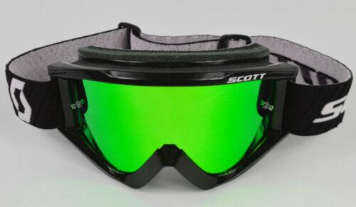 Goggle-Shop Motocross MX Mascherina Cromo Lente a Specchio per Scott ANNI /'80 89
