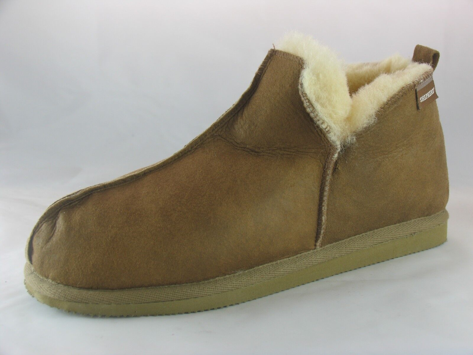 Men's Shepherd Anton Brown Sheepskin Full Slippers EU 41-47