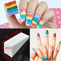 8pcs Nail Art Sponge Stamp Stamping Polish Template Transfer Manicure DIY Tools