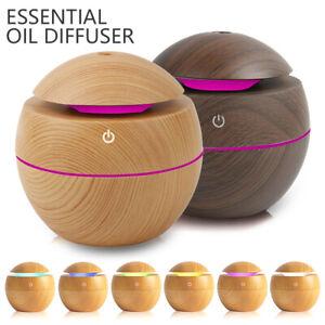 Humidificateur-ultrasonique-aromatherapie-diffuseur-d-039-huile-USB-7-LED-BR