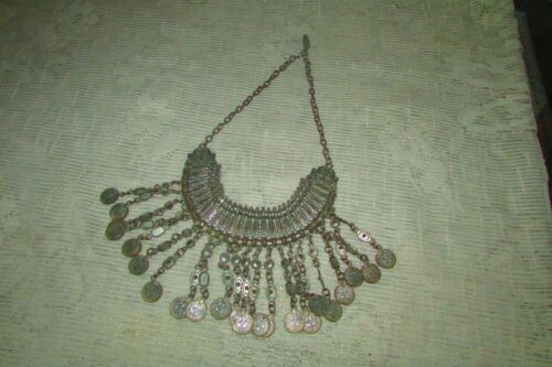 Syria Turkey GRACEFUL /& DELICATE Ottoman-style Vintage ethnic Bedouin choker necklace Boho Middle East patina Armenian tribal jewelry