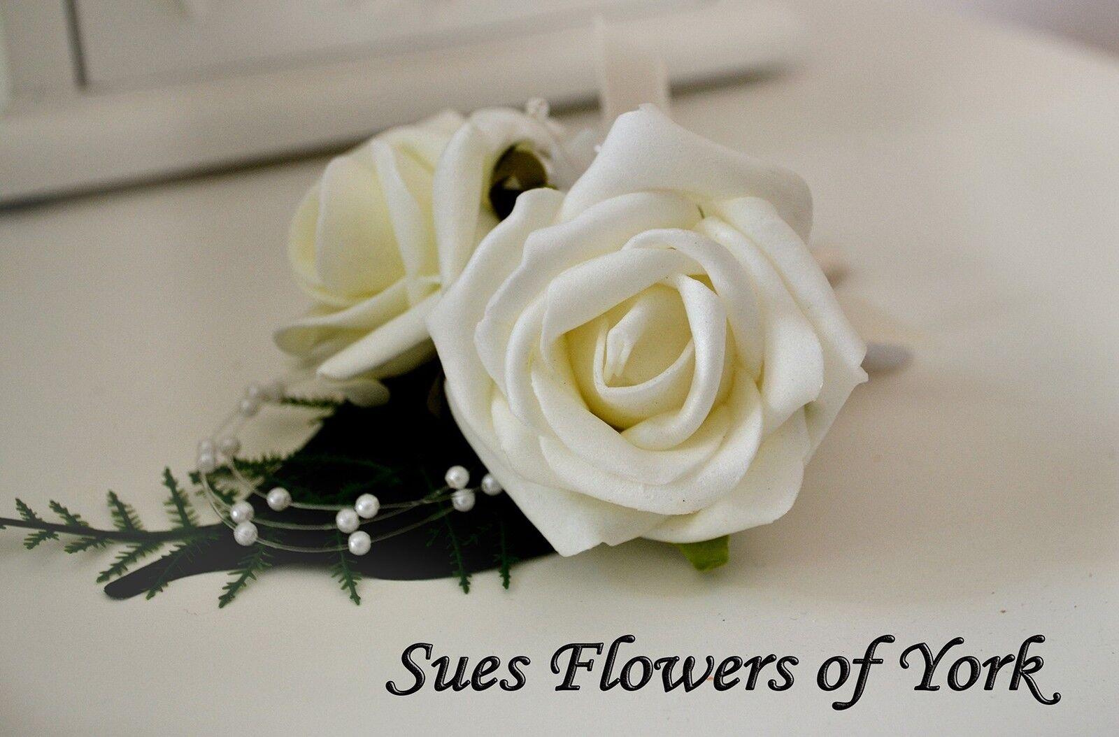 WEDDING FLOWERS Traditional Ivory Teardrop Teardrop Teardrop Set b1035f