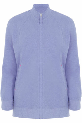Ex Chainstore Ladies Plus Size Zip Up Jacket in Blue Size 24