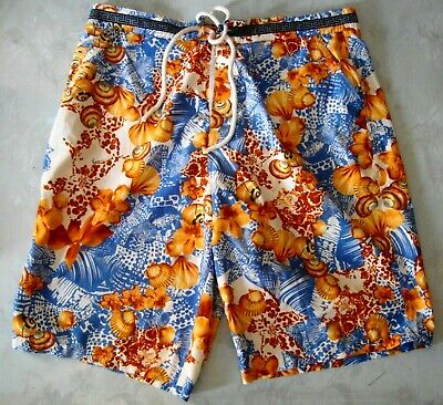 Volitivo Short Sea Man Vintage Versace Made In Italy Tg 48-m Rare