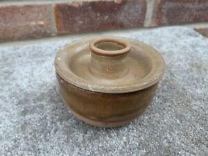 vintage-old-cermaic-candle-holder-with-pot-underneath-retro-1970s-look