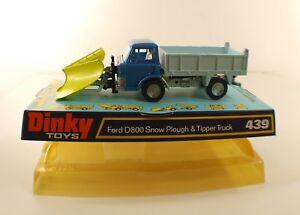 Dinky Toys Gb N° 439 Ford D800 Chasse-neige Snow Plough Truck Neuf En Boite 1/43