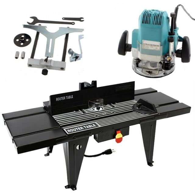 "Router Table & 1/2"" Router Kit Benchtop 34""x13"" Deluxe w/ On/Off Switch NEW"