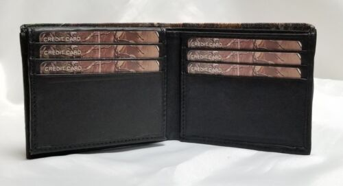 Realtree Camo Canvas and Genuine Leather Brifold Wallet With RFID Blocker