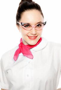 White Peter Pan Collar Medium Blouse & Sheer Scarf - 50s Style COMBO - Hey Viv
