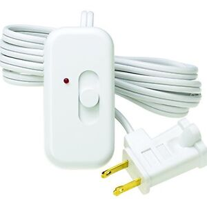 Details About Plug In Table Floor Lamp Dimmer Switch 6 Cord Night Light Lighting White New