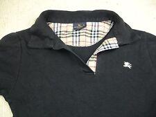 Ladies black BURBERRY polo shirt S/M