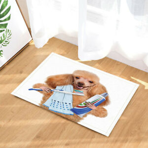 Funny Red Haired Dog Bathroom Rug Non