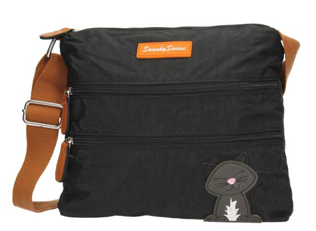 5f8361b5bd85 Riley Womens Ladies DESIGNER Multi Zip Crossbody Side Bag With Lola ...