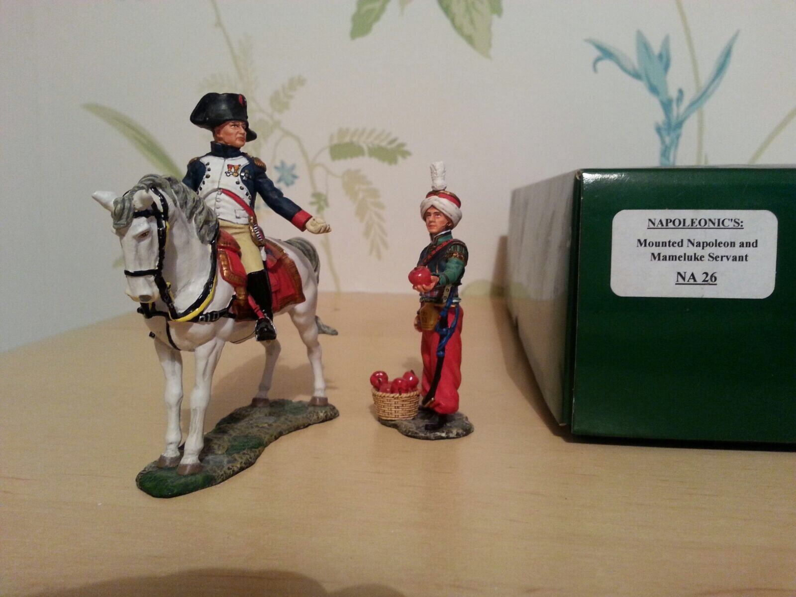 King And Country Napoleonic mounted Napoleon and servant NA NA 26  Retired Item