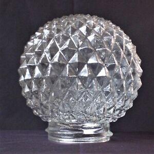 Ersatzglas Lampenschirm Glaskugel Gewindeglas Diamant Struktur