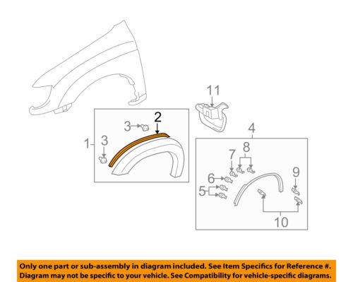 TOYOTA OEM 04-06 Tundra Fender-Wheel Flare Gasket Seal Pad 7562534010B0