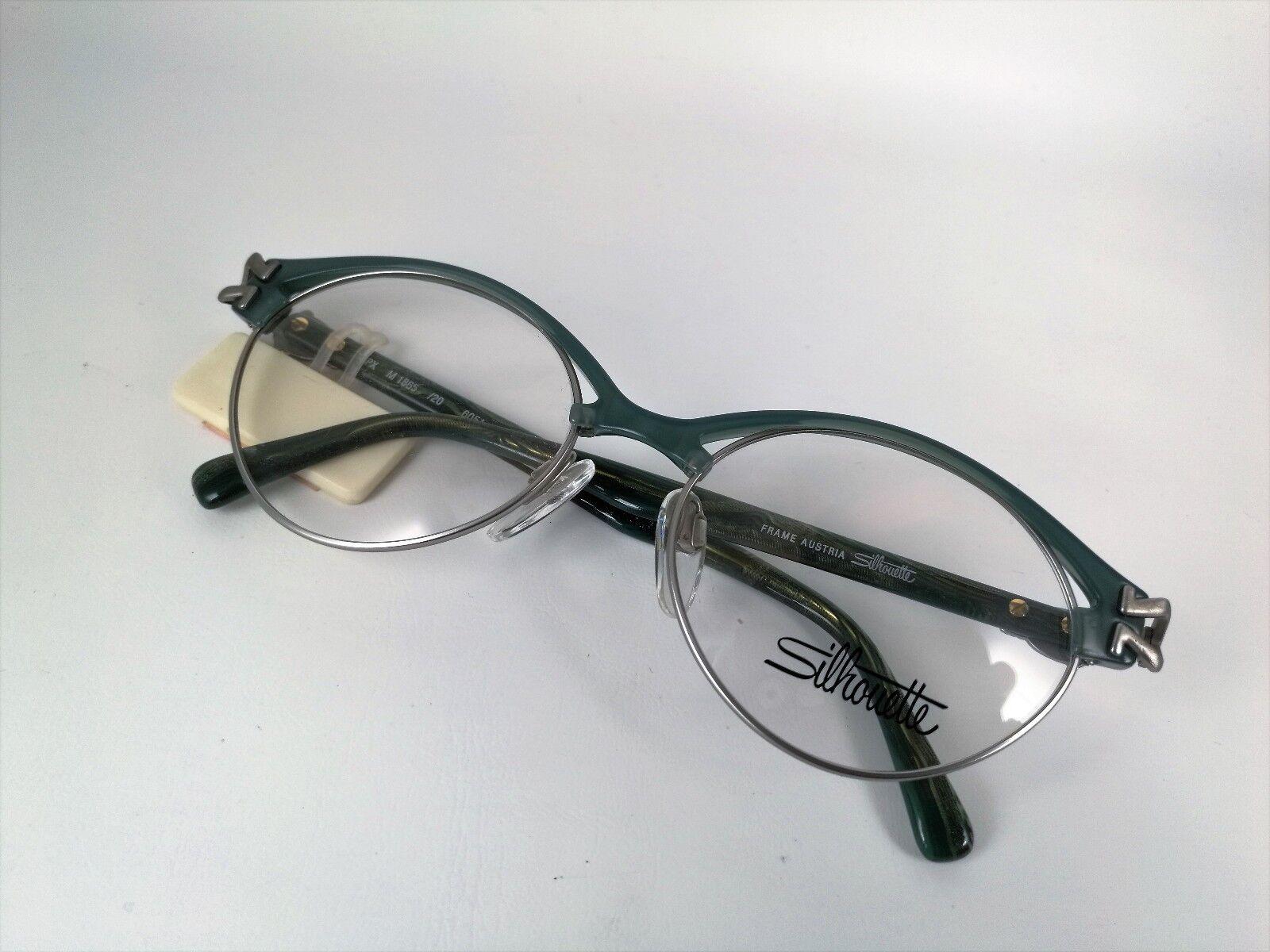SILHOUETTE Brille M1865 20-6051 Vintage Vintage Vintage Frame Crazy Eyeglasses Classic 80s Style 758648
