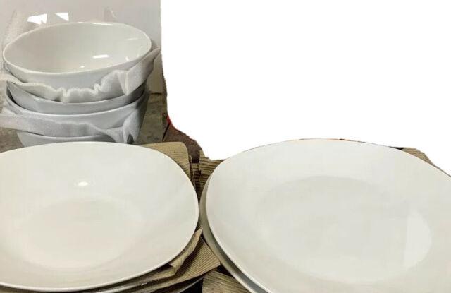 12 Piece White Dinnerware Set for sale online  eBay