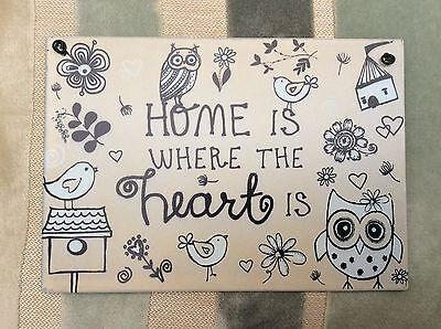 """'a Casa è Dove Il Cuore """"piastra A Parete Decorazione Arredamento Casa Giardino Regalo Di Compleanno- Garanzia Al 100%"""