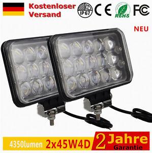 AutoJare - 2 x45W 4D LED Arbeitsscheinwerfer Scheinwerfer Offroad Strahler SUV