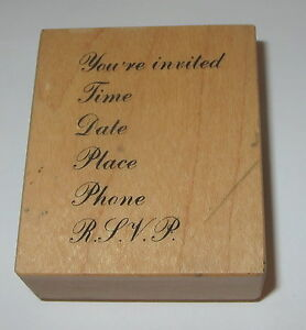 Youre Invited Rubber Stamp PSX Time Date Place Phone RSVP