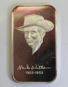 WWM-20-Hank-Williams-Nashville-Music-MINTAGE-200-999-SILVER-ART-BAR-Rare