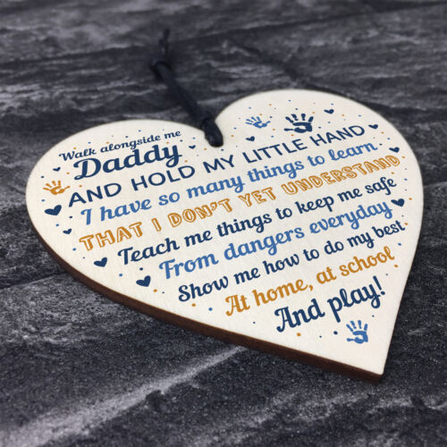 Daddy To Be Cards From Bump Wooden Heart Fathers Day Gift Baby Shower Gift Sign