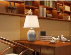 Modern 1 Light Cloth Lampshade+Ceramic Height 42CM Decoration Table Light/Lamp