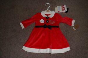 1c996ba9b cute baby girls miss claus red plush christmas dress*tights age3 ...