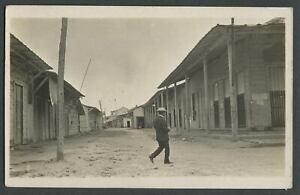 Santiago de Cuba?: c.1920s RPPC Photo Postcard Barrio Ghetto Street Scene