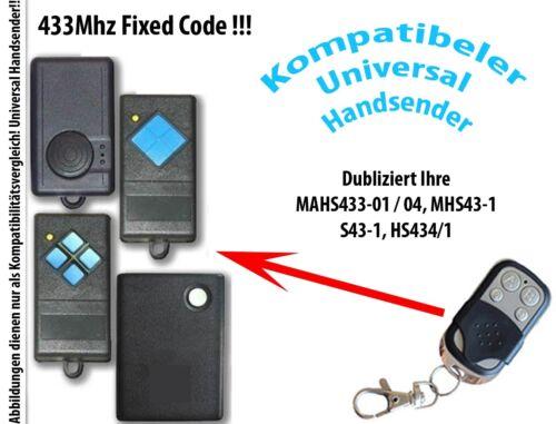 433 Mhz Handsender kompatibel zu Dorma GTA 540 GTA 555 GTA 550 GTA 510 HS43-1