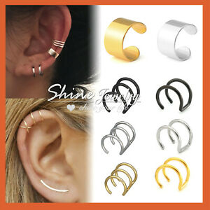 Fake Piercing Hoop Earrings Ear Cuff