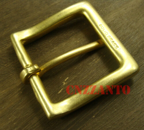 """Solid Brass Vintage Classical Tongue Pin Hippie Belt buckle Buckles 1.5 /"""" Z257"""