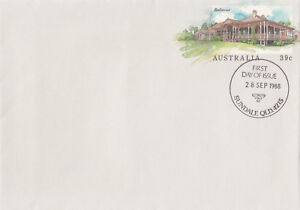 13960-Australia-Postal-Stationery-FDC-Bellevue-Coominya-Queensl-and-Sept-1988