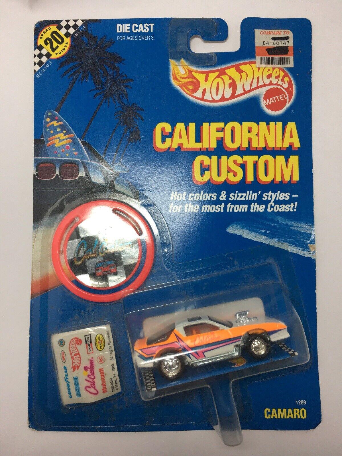 Hot Wheels California Personalizado 1289 Camaro Nuevo Nuevo Nuevo Sellado Naranja 8468da