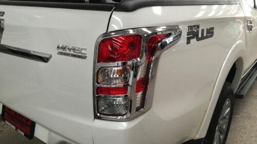 Tail Lamp Light Cover Chrome Trim For Mitsubishi Pickup L200 Triton 2015 16 17