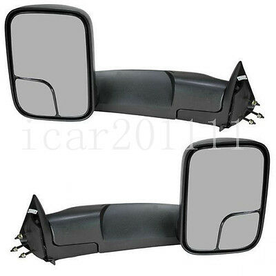 For 02-08 Dodge RAM 1500//03-09 2500 3500 Manual Adjusted FlipUp  Mirrors